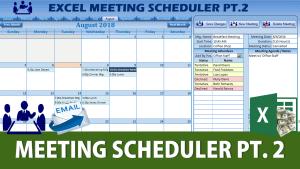 Excel Meeting Scheduler