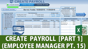 Excel Payroll Employee Manager Part 15
