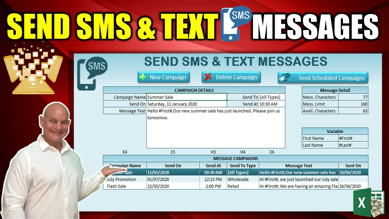SEDN SMS & TEXT MESSAGES